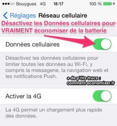L'Astuce la Plus Efficace Pour Économiser la Batterie iPhone avec iOS 7.