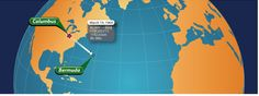 Starting in Columbus, OH, Jerrie flew to Bermuda. Flight Time: 6 hours 38 mins. 1,141.63 Statute Miles