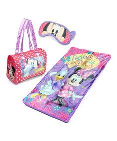 Minnie Mouse Slumber Party Set #zulily #zulilyfinds