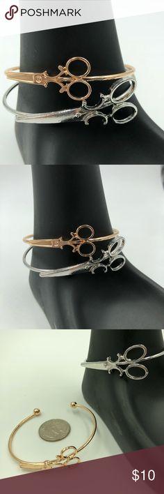 "✂️ Scissor Cuff Bracelet NWT 😎 Scissor Cuff Bracelet NWT Silver Scissors measures 2"" Gold Scissors measures 1 1/2"" Posherpooch Jewelry Bracelets"