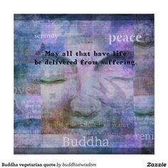 Buddha vegetarian quote poster
