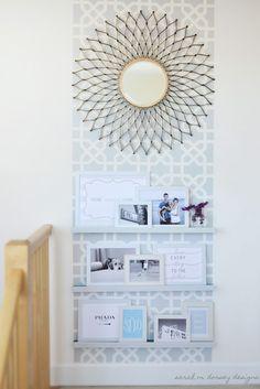 sarah m. dorsey designs: Moorish Insprired Wall and Frame Shelves