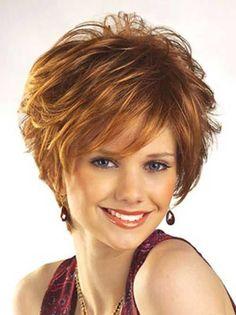 2016 Short Edgy Ginger Hair for Over 40