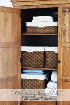 Time to organize your linen closet in a way that actually works! No more jumbled towels and mismatched sheets. Via A Bowl Full of Lemons