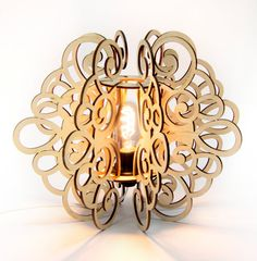 Shop for on Etsy, the place to express your creativity through the buying and selling of handmade and vintage goods. Lamp Design, Wood Design, Lighting Design, Wooden Lampshade, Wood Lamps, Laser Cut Lamps, Diy Cardboard Furniture, Laser Cutter Ideas, 3d Laser