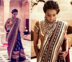 pretty beige gold navy and red lengha - Outfit; #jewelry border design Indian Sarees, Pakistani, Indian Bridal Outfits, Indian Bridal Wear, Indian Dresses, Indian Wear, Desi Wedding, Saree Wedding, Bridal Lehenga
