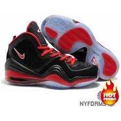 low priced de26f 93e54 Nike Air Penny 5 Black Red Cheap Jordan Shoes, Michael Jordan Shoes, Nike  Shoes