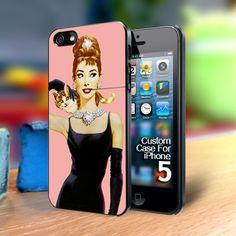TP311 audrey hepburn breakfast at tiffanys iphone 5 case | TheYudiCase - Accessories on ArtFire