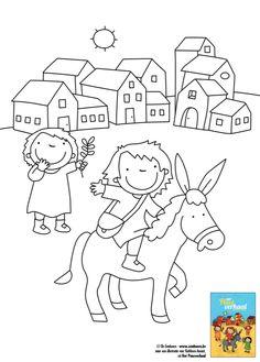 Kleurplaat bij 'Het Paasverhaal' van Kathleen Amant Bible Illustrations, Toddler Learning, Children, Kids, Snoopy, Teaching, Comics, Projects, Fictional Characters