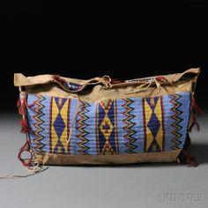 Lakota Beaded Hide Possible Bag | Sale Number 2636B, Lot Number 117 | Skinner Auctioneers