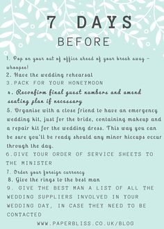 The Essential Planning Checklist Wedding Planning Checklist, The Essential, Wedding Rehearsal, Essentials, How To Plan, Day