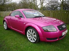 Cute pink Audi @Lauren Landry Please tell Nik he can get this for me when he is working!!!!  ;)