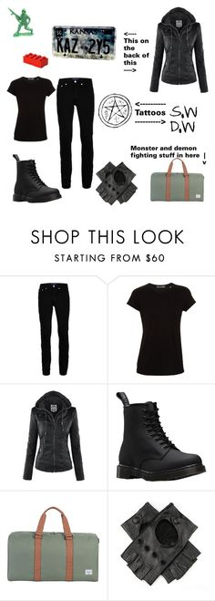 """""""Human Impala Cosplay"""" by caroline3214 ❤ liked on Polyvore featuring Topman, Vince, Dr. Martens, Herschel Supply Co., Black and Lego"""