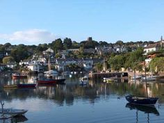 A View of the Estuary. Newton Ferrers and Noss Mayo are among the most attractive and unspoilt villages in Devon, England