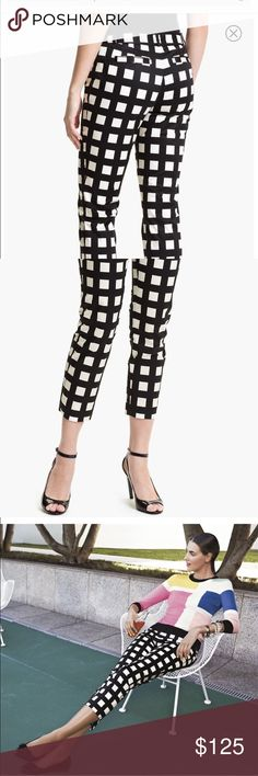 "Kate Spade ""Davis"" Black and White Capris Kate Spade ""Davis"" style black with white squares Capri Size 2. kate spade Pants Capris"