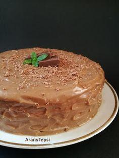 AranyTepsi: Egyszerű mogyorókrémes torta