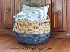 How to Transform a Thrifted Basket With Paint
