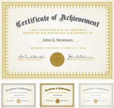 Six certificate design vector Free Vector / - Graphic Hit Graduation Certificate Template, Certificate Of Achievement Template, Free Certificates, Certificate Design Template, Ms Project, Award Template, Certificate Of Completion, Birth Certificate, Certificate Of Appreciation