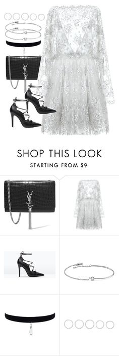 """Untitled #3909"" by amyn99 on Polyvore featuring Yves Saint Laurent, Zuhair Murad, Zara, Amorium and Luv Aj"