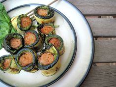 Chicken Zucchini Pesto Roll Ups