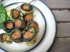 Chicken Zucchini Pesto Roll Ups