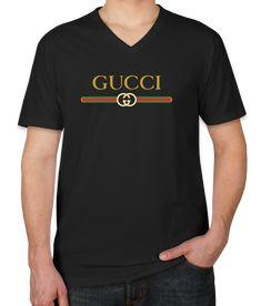 7c471cd5e9f0 awesome Gucci Logo Print Unisex V-Neck T-Shirt Gucci Hoodie Mens, Gucci