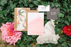 garden wedding invitations, photo by Tara McMullen http://ruffledblog.com/niagara-on-the-lake-wedding #modernwedding #weddinginvitations