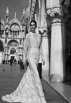 Hochzeitskleider 2015: Stehkragen und Lace Sleeves