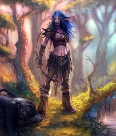 Night Elf Hunter- this is pretty accurate to the style I am going for with my elf costume! The boots, not so much.