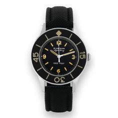 BLANCPAIN Fifty Fathoms 'Aqua Lung' circa 1950s.  Designed for the French navy. An early automatic dive watch.