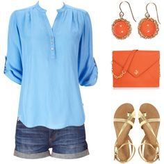 Baby Blue and Orange--love it