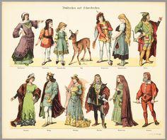 Characters for a Toy Theater - c 1904 - Brüderchen und Schwesterchen