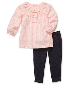 Carter's Baby Set, Baby Girls 2-Piece Tunic and Leggings - Kids Baby Girl (0-24 months) - Macy's