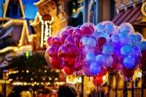 Balloons on Main Street USA at Dusk by Samantha Decker