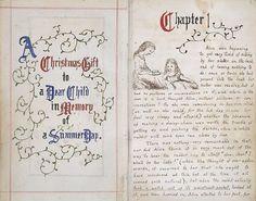 Lewis Carroll's original manuscript for Alice's Adventures in Wonderland , from 1864.