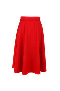 Charming Falbala Red Long Skirt ❤    $58.99 #Romwe