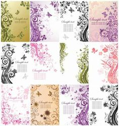 Illustrator Floral pattern Cards : wedding diy inspiration invitations reception Floral Postcards Set Vector GORGEOUS for INVITATIONS,ETC vector floral cards : wedding invitations diy Floral Postcards Set Vector Floral postcards set vector Card Patterns, Line Patterns, Flower Patterns, Diy Wedding Inspiration, Doodle Inspiration, Wedding Ideas, Free Vector Graphics, Vector Art, Eps Vector