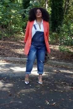 Today I show off my style and these plus size overalls from City Chic and How I styled them! #TCFStyle