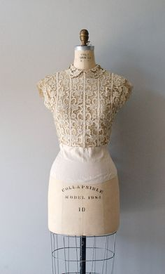 Amazing \\ 1940s silk blouse / cutout lace by DearGolden, $114.00