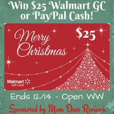 #Win $25 Walmart GC or PayPal CASH! #holidaygiveaway WW 12/14
