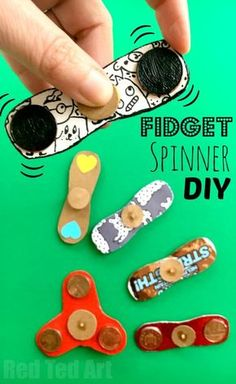 How to Make a Fidget Spinner DIY without bearings. Fidget Spinner DIY - how to make a fidget spinners. If the Hand Spinner Fidget Toy craze has hit your home.. and you either can't or won't buy one of the kids.. or maybe your fidget spinner is stuck in th