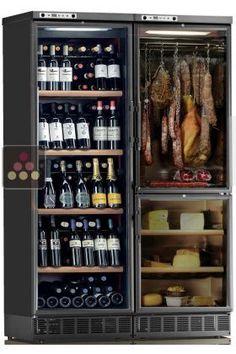 Combiné encastrable d'une cave à vin, d'une cave à fromages et d'une cave à charcuteries CALICE, ACI-CAL746E - Ma Cave à Vin