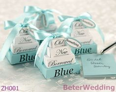 ティファニーブルーの結婚式の好意60メモセットの使用や結婚式の好意の結婚式の装飾として景品zh001@beterwedding卸売