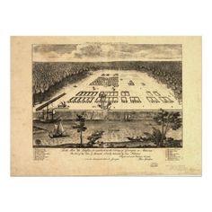 Savannah Georgia 1734 Panoramic Map Posters