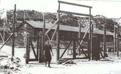 The entrance of concentration camp Schoorl