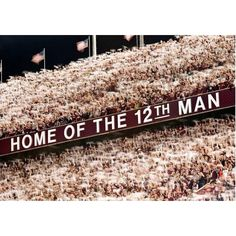 Home of the 12th Man - Towel Out  Maroon Out 2010 vs. nebraska