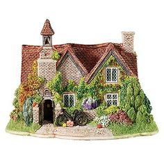 Lilliput Lane - The Old School House, Kent, South East Clay Houses, Ceramic Houses, Miniature Crafts, Miniature Houses, Gothic Buildings, Red Brick Walls, Old School House, Sims 4, Medieval Houses
