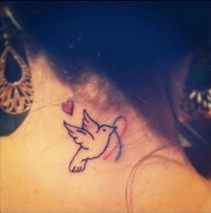 bird and ribbon on neck for peace and pregnancy/infant loss