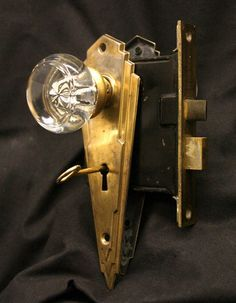 glass knob art deco door plates - Google Search