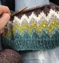 Acadia yarn...such a pretty color combination